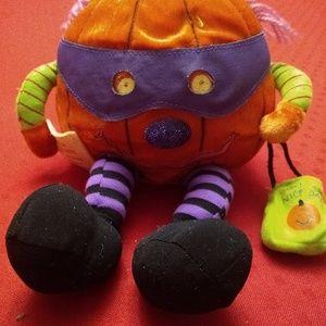 First & Main Halloween Plush Pumpkin